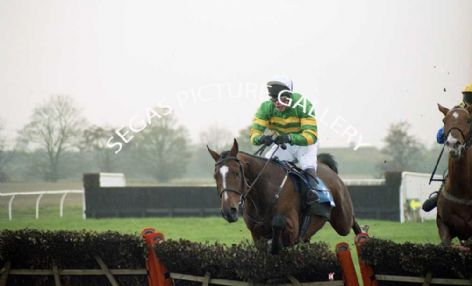 Racehorse Knife Edge with Jockey Mick Fitzgerald